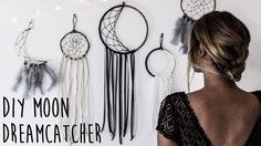 How To Make A Crescent Moon Dreamcatcher video tutorial.