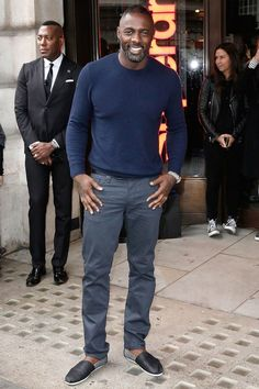 At the Idris Elba + Superdry collection launch in London.