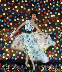 Model wearing dress by Pattullo - Jo Copeland 1958