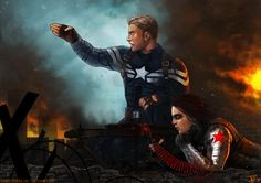 -Captain America and the Winter Soldier- by obsceneblue.deviantart.com on @deviantART