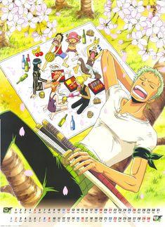 Zoro, Luffy, Chopper, Usopp, Nami, Sanji & Robin