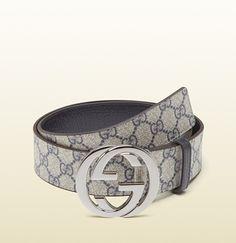 Gucci - belt with interlocking G buckle 114984H9V3N8624