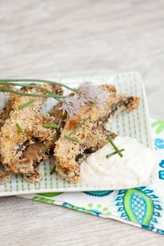 Oven Baked Portobello Mushroom Fries - these are great for an appetizer or side dish - Low Calorie, Low Fat, Healthy Recipe