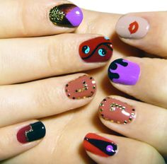 Nail art by Madeline Poole