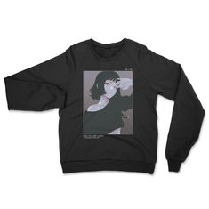 You Look Beautiful When You Cry • Crewneck Sweatshirt - Black / 3XL