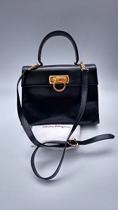 21fe2f27b3 100% Authentic designer bags and jewellery! by Sophiashop123. Kelly BagVintage  BlackSalvatore FerragamoBlack LeatherShoulder ...