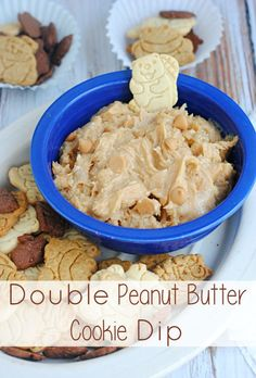from moments with mandi double peanut butter cookie dip double peanut ...