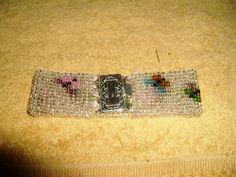 loom, butterflies, beads, Bracelet