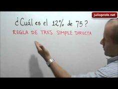 Ejercicio 1 de Porcentajes: Julio Rios explica el siguiente ejercicio: ¿Cuál es el 12% de 75?