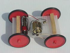 Electric Car Kit - This simple car kit explores movement, electricity and forces. All parts and instructions are included. Stem Projects, Science Projects, School Projects, Energy Projects, Cool Science Experiments, Science For Kids, Electric Car Kit, Electric Motor, Car Axle