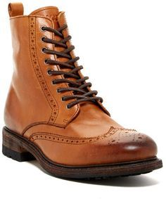 $329 Brown Leather Brogue Boots: Blackstone Brogue Boot. Sold by Nordstrom Rack. Click for more info: lookastic.com/...
