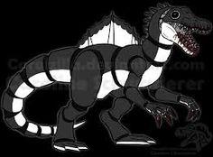 Animatronic Spino - Sketch Commission by Carolzilla Fnaf Drawings, Animal Drawings, Animatronic Fnaf, Fnaf Oc, Chibi, Hybrid Design, Spinosaurus, Jurassic Park World, Cool Sketches