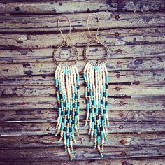 Long Fringe Earrings, Boho Earrings, Native American Inspired Jewelry