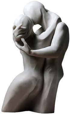 "Bernard Kapfer Skulptur ""Der Kuss"" Version in Kunstmarmor"