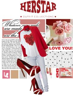 """""""HERSTAR Valentines day outfit!"""" by missmelika on Polyvore"""