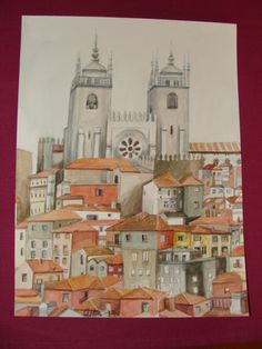 Precioso cuadro de Oporto. Acuarela.