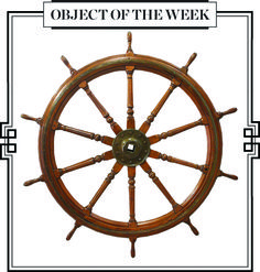 WHEEL OF THE S.S. LOCHEE Last Sail Whaling Ship to be Built in Dundee, from the era of Moby-Dick. LAPADA Object of the Week - http://eepurl.com/8JhjH