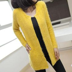 Buy 'Ando Store � Furry-Knit Long Cardigan' with Free International Shipping at YesStyle.com. Browse and shop for thousands of Asian fashion items from China and more!