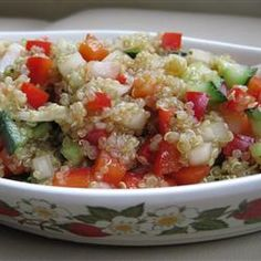 Mediterranean Quinoa Salad- i have to try making this!
