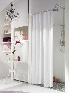 Moderne Dusche Mit Duschvorhang
