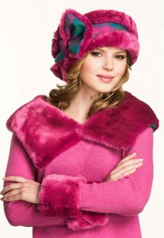 Cuffs and Collars Lindsay Pink Joyce Young, Collar And Cuff, Tartan Plaid, One Design, Tweed, Collars, Cuffs, Winter Hats, Dress Up