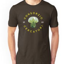 """@redbubble """"Consorzio Cercatori"""" is a free association of people walk in the woods  looking for mushrooms from 1983 but they like also berries #t-shirts #woods, #wildlife, #outdoor #mushroom #printed #1983 #keeper #stranger #forest #lorien #backintheday #vintage #cool #funghi #bosco"""