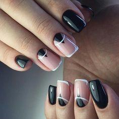 Uñas!! Square Nail Designs, Elegant Nail Designs, Beautiful Nail Designs, Nail Art Designs, Mens Nails, Shellac Nail Art, Geometric Nail, Minimalist Nails, Stylish Nails