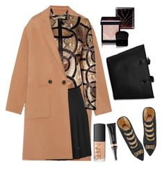 """Gucci Python and lizard jacket"" by thestyleartisan ❤ liked on Polyvore featuring Theory, McQ by Alexander McQueen, Clé de Peau Beauté, Gucci, Charlotte Olympia, NARS Cosmetics and Butter London"