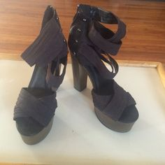 Black high heels Fabric straps high heels, look amazing and are very comfortable Qupid Shoes Heels