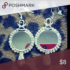 Mirror eareings Cute vintage mirror earrings Jewelry Earrings