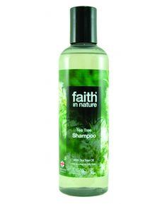 Tea Tree šampón pre normálne až mastné vlasy Faith in Nature Tea Tree Shampoo, Melaleuca, Faith, Personal Care, Bottle, Nature, Beauty, Beleza, Self Care