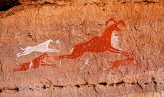 Rock painting from the Tasili-n-ajjer region of the central Sahara: images from the Hunter phase