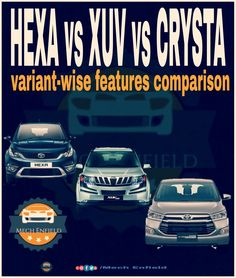 HEXA vs XUV vs CRYSTA