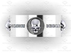Show details for 'Luna de Saturno' Mens 0.40ct Diamond Sterling Silver Skull Wedding Band Ring
