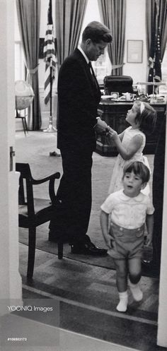 John Kennedy with his kids