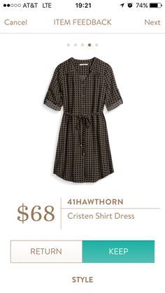 Stitch Fix 41Hawthorn Cristen Shirt Dress I love Stitch Fix! A personalized styling service and it's amazing!! Simply fill out a style profile with sizing and preferences. Then your very own stylist selects 5 pieces to send to you to try out at home. Keep what you love and return what you don't. Only a $20 fee which is also applied to anything you keep. Plus, if you keep all 5 pieces you get 25% off! Free shipping both ways. Schedule your first fix using the link below! #stitchfix…