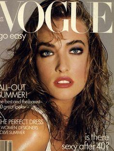 Vogue,1987. Model: Tatiana Patitz. More