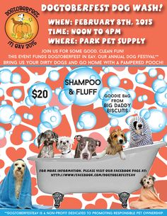Flyer designed for Dogtoberfest in EAV's dogwash fundraiser. This will be a pawsome event!