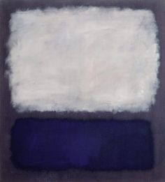 "free-parking: Mark Rothko, Blue and Grey, 1962, oil on canvas ""I'm not an abstractionist… I'm not interested in relationships of color or forms… I'm interested only in expressing basic human emotions—tragedy, ecstasy, doom and so on… The people who weep before my pictures are having the same religious experience I had when I painted them.""—Mark Rothko, 1956"