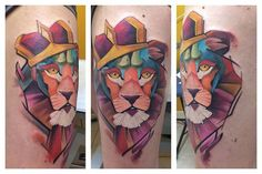 abstract king lion