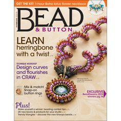 129 Bead & Button Magazine, October 2015 (Used), Sova Enterprises.com