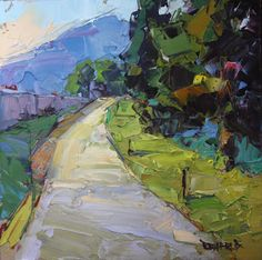 cathleen rehfeld • Daily Painting: Waterfront Winding Path