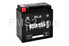Batteria RMS modello SLA tipo BB5L-B già attivata e pronta per il montaggio sul veicolo, ricambio 246650155