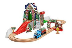 Fisher-Price Thomas the Train Wooden Railway Santa's Workshop Express…