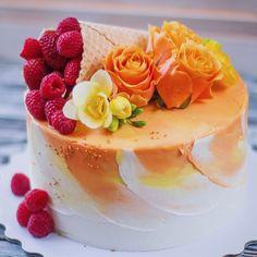 Repost @sweet_home_bakery_krd #cake #cakes #cupcake #cupcakes #cakeart #cakeporn #cakelover #cakedesign #торт #торты #тортик #тортспб… Gorgeous Cakes, Amazing Cakes, Fall Birthday Cakes, Cupcake Cakes, Cake Cookies, Cake Decorating Techniques, Pastry Cake, Vegan Cake, Piece Of Cakes