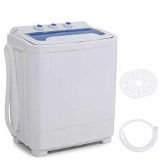Washer 16.5lbs Kenwell KUPPET Compact Twin Tub Portable Mini Washing Machine 24lbs Capacity //Built-in Drain Pump//Semi-Automatic White/&Black /&Spiner 7.5lbs