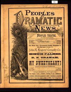 People's Dramatic News (B0145) - Emergence of Advertising in America - Duke Libraries