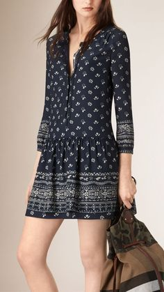 Bandana Print Tunic Dress