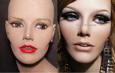 Vintage 60's mannequin before & after