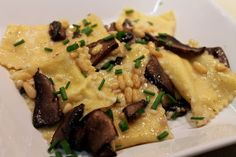 Cook In / Dine Out: Sweet Corn Agnolotti with Mushrooms